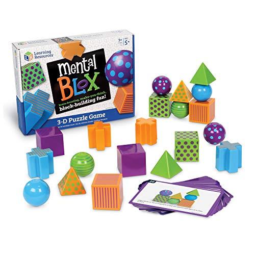 ボードゲーム 英語 アメリカ 海外ゲーム LER9280 【送料無料】Learning Resources Mental Blox Critical Thinking Game, Homeschool, 20 Blocks, 20 Activity Cards, Ages 5+ボードゲーム 英語 アメリカ 海外ゲーム LER9280