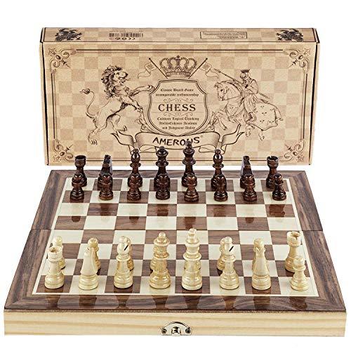 ボードゲーム 英語 アメリカ 海外ゲーム Amerous Chess Set, 12