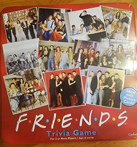 ボードゲーム 英語 アメリカ 海外ゲーム Friends Trivia Game with Picture Cards; in a Collectible 赤 Tinボードゲーム 英語 アメリカ 海外ゲーム