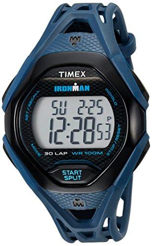 タイメックス 腕時計 メンズ TW5M10600 Timex Men's TW5M10600 Ironman Sleek 30 Blue/Black Resin Strap Watchタイメックス 腕時計 メンズ TW5M10600