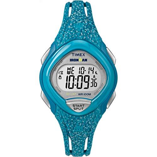 腕時計 タイメックス レディース TW5M08800 【送料無料】Timex Women's TW5M08800 Ironman Sleek 30 Blue Speckled Resin Strap Watch腕時計 タイメックス レディース TW5M08800