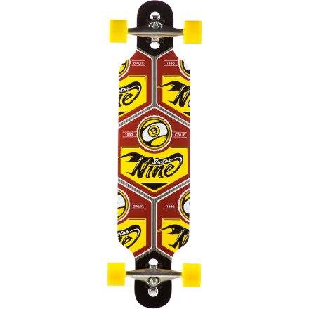 セクター9 ロングスケートボード スケボー 海外モデル アメリカ直輸入 DECK New 2013 Sector 9 Platinum Seeker 37 RED 8.7 x 37 Complete Skateboard Longboardセクター9 ロングスケートボード スケボー 海外モデル アメリカ直輸入 DECK