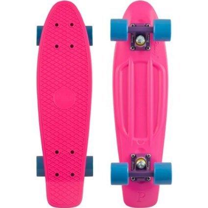 スタンダードスケートボード スケボー 海外モデル 直輸入 Penny Nickel Skateboard (Pink Deck/Purple Trucks/Blue Wheels)スタンダードスケートボード スケボー 海外モデル 直輸入