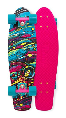 ロングスケートボード スケボー 海外モデル 直輸入 PECOCR2716010 Penny Weird Reality Nickel Complete Skateboard, Sea Space, 27