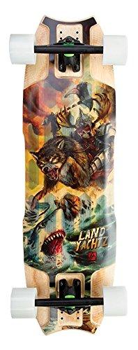 ランドヤッツ ロングスケートボード スケボー 海外モデル アメリカ直輸入 Landyachtz - Mini Wolf Shark HT Longboard Complete 2016, Hollow Tech, 32.5