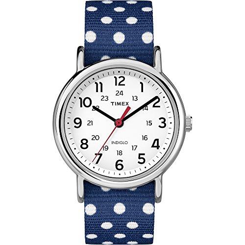 タイメックス 腕時計 レディース TW2P66000 【送料無料】Timex Women's Weekender TW2P66000 Blue Cloth Analog Quartz Fashion Watchタイメックス 腕時計 レディース TW2P66000