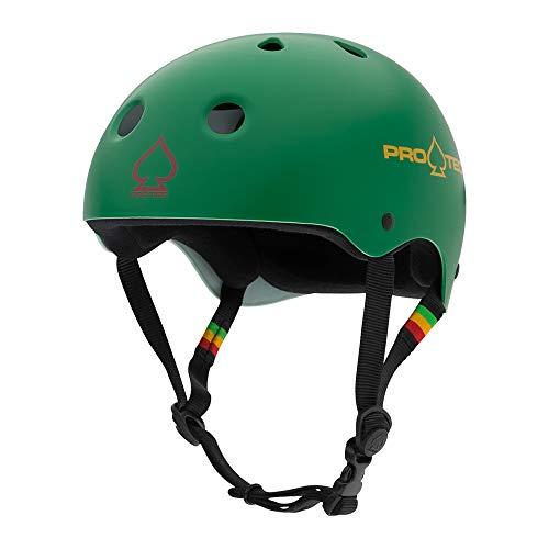 ヘルメット スケボー スケートボード 海外モデル 直輸入 120213102 Pro-Tec Classic Skate, Matte Rasta Green, XSヘルメット スケボー スケートボード 海外モデル 直輸入 120213102