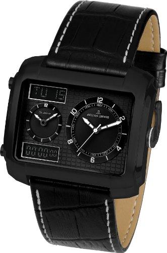 ジャックルマン オーストリア 腕時計 メンズ ケビンコスナー愛用 Sports Madrid Dual Time Jacques Lemans Men's Quartz Watch Sports Madrid Dual Time 1-1708C with Leather Sジャックルマン オーストリア 腕時計 メンズ ケビンコスナー愛用 Sports Madrid Dual Time