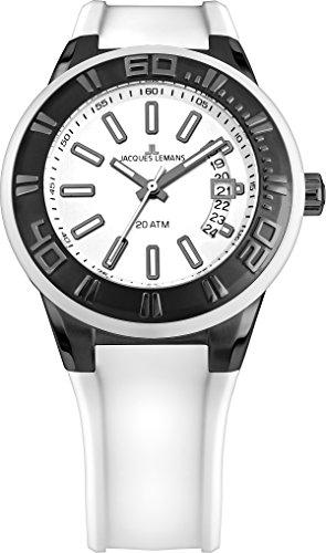 腕時計 ジャックルマン オーストリア メンズ ケビンコスナー愛用 1-1784J 【送料無料】Jacques Lemans Miami Gents White Silicone Strap Watch 1-1784J腕時計 ジャックルマン オーストリア メンズ ケビンコスナー愛用 1-1784J
