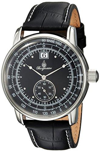 ブルゲルマイスター ドイツ高級腕時計 メンズ BM333-122 【送料無料】Burgmeister Men's Quartz Watch with Leather-Calfskin Strap, Black, 22 (Model: BM333-122)ブルゲルマイスター ドイツ高級腕時計 メンズ BM333-122