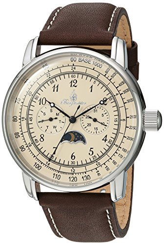 ブルゲルマイスター ドイツ高級腕時計 メンズ BM335-195A 【送料無料】Burgmeister Men's Quartz Watch with Leather-Calfskin Strap, Brown, 22 (Model: BM335-195A)ブルゲルマイスター ドイツ高級腕時計 メンズ BM335-195A