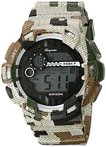 ブルゲルマイスター ドイツ高級腕時計 メンズ BM803-027 Burgmeister Men's BM803-027 Digital Display Quartz Green Watchブルゲルマイスター ドイツ高級腕時計 メンズ BM803-027
