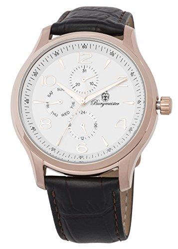 ブルゲルマイスター ドイツ高級腕時計 メンズ BMT04-385 【送料無料】Burgmeister Men's Stainless Steel Japanese-Quartz Watch with Leather Calfskin Strap, Brown, 21 (Model: BMT04-385ブルゲルマイスター ドイツ高級腕時計 メンズ BMT04-385