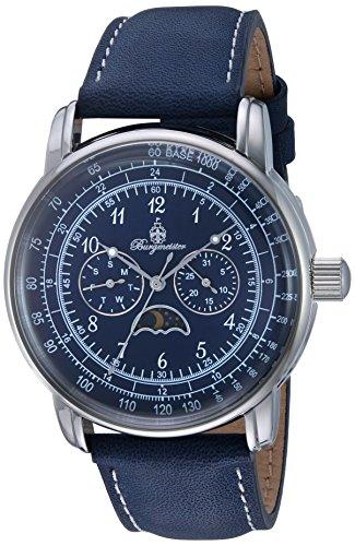 ブルゲルマイスター ドイツ高級腕時計 メンズ BM335-133 【送料無料】Burgmeister Men's Quartz Watch with Leather Calfskin Strap, Blue, 21 (Model: BM335-133)ブルゲルマイスター ドイツ高級腕時計 メンズ BM335-133