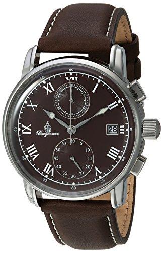 ブルゲルマイスター ドイツ高級腕時計 メンズ BM334-195 【送料無料】Burgmeister Men's Quartz Watch with Leather Calfskin Strap, Brown, 22 (Model: BM334-195)ブルゲルマイスター ドイツ高級腕時計 メンズ BM334-195