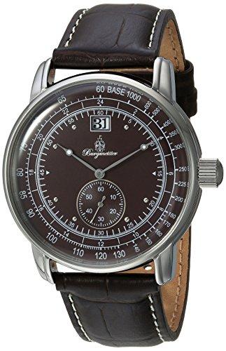 ブルゲルマイスター ドイツ高級腕時計 メンズ BM333-195 【送料無料】Burgmeister Men's Quartz Watch with Leather Calfskin Strap, Brown, 22 (Model: BM333-195ブルゲルマイスター ドイツ高級腕時計 メンズ BM333-195