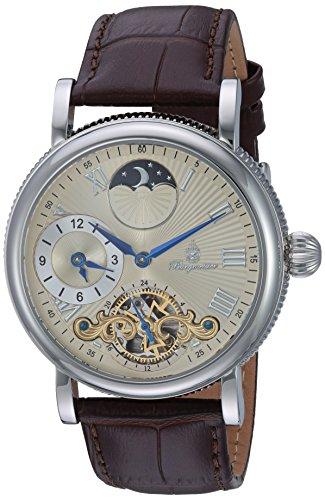 ブルゲルマイスター ドイツ高級腕時計 メンズ BM226-175 【送料無料】Burgmeister Men's Stainless Steel Automatic-self-Wind Watch with Leather Calfskin Strap, Brown, 21 (Model: BM226-175)ブルゲルマイスター ドイツ高級腕時計 メンズ BM226-175