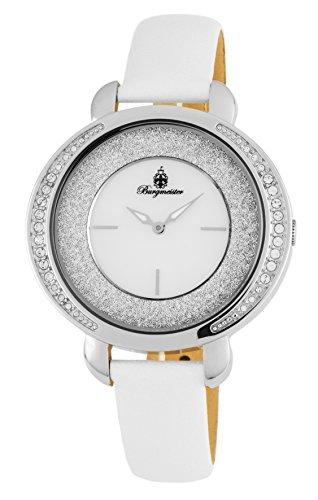 ブルゲルマイスター ドイツ高級腕時計 レディース BM808-186 Burgmeister Women's Stainless Steel Japanese-Quartz Watch with Leather Calfskin Strap, White, 24 (Model: BM808-186ブルゲルマイスター ドイツ高級腕時計 レディース BM808-186, 北摂ガーデンウェブショップ ce48e725