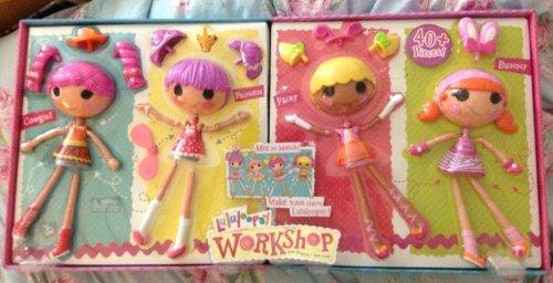 ララループシー 人形 ドール Lalaloopsy Workshop Four Pack - Cowgirl/Princess/Fairy/Pink Bunny Exclusive Playsetララループシー 人形 ドール