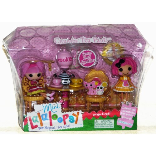 ララループシー 人形 ドール 1020149 MGA Mini Lalaloopsy Crumbs Tea Party with Bonus Mini Jewel Sparkles (2 Dolls)ララループシー 人形 ドール 1020149