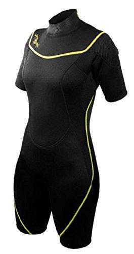 シュノーケリング マリンスポーツ 1003481 【送料無料】Deep See Women's 3mm Shorty Wetsuit, Black/Royal Blue, Size 7/8シュノーケリング マリンスポーツ 1003481