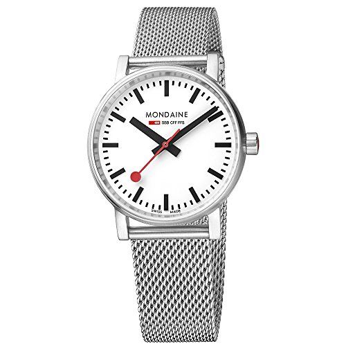 モンディーン 北欧 スイス 腕時計 レディース MSE.35110.SM 【送料無料】Mondaine SBB Swiss-Quartz Watch with Stainless-Steel Strap, Silver, 18 (Model: MSE.35110.SM)モンディーン 北欧 スイス 腕時計 レディース MSE.35110.SM