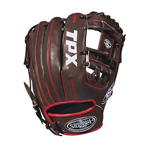 グローブ 内野手用ミット ルイビルスラッガー 野球 ベースボール WTLPXRB18115 Louisville Slugger 2018 Tpx Infield Baseball Glove - Right Hand Throw Dark Brown/White/Red, 11.5