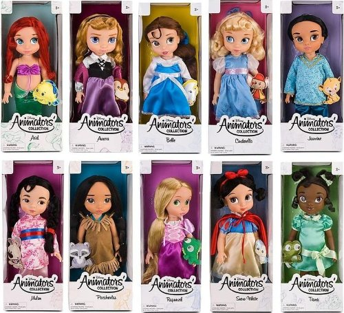 ディズニープリンセス Disney Animators Toddler princess dolls set rapunzel bell snow white pocahontasディズニープリンセス