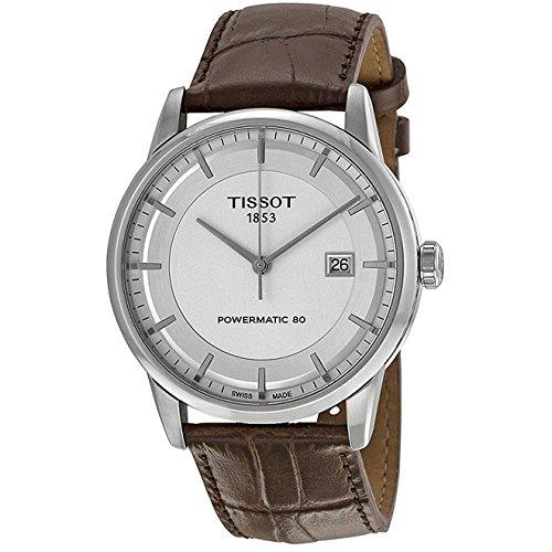 ティソ 腕時計 メンズ T086.407.16.031.00 【送料無料】Tissot Luxury Powermatic 80 Automatic Silver Dial Brown Leather Mens Watch T0864071603100ティソ 腕時計 メンズ T086.407.16.031.00