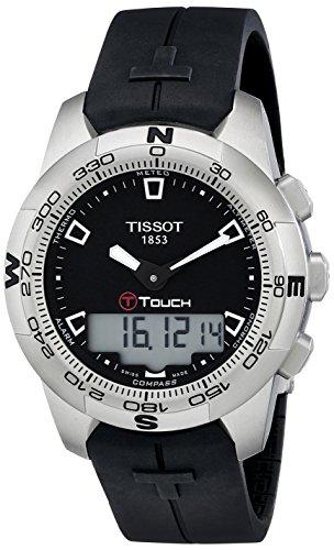 ティソ 腕時計 メンズ T0474201705100 【送料無料】Tissot Men's T0474201705100 T-Touch Black Chronograph Dial Watchティソ 腕時計 メンズ T0474201705100