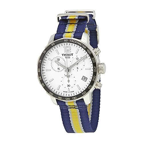 ティソ 腕時計 メンズ Tissot Quickster Indiana Pacers Chronograph Mens Watch T0954171703723ティソ 腕時計 メンズ