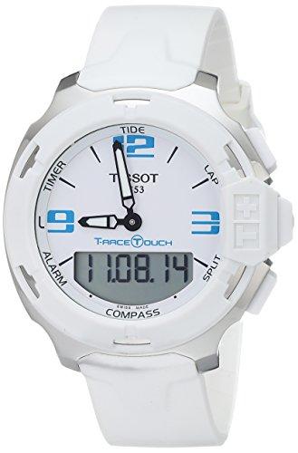 ティソ 腕時計 メンズ T0814201701701 【送料無料】Tissot Men's T0814201701701 T-Race Touch Analog-Digital Display Swiss Quartz White Watchティソ 腕時計 メンズ T0814201701701