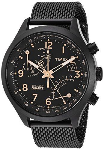 タイメックス 腕時計 メンズ TW2R55000 Timex Men's TW2R55000 Intelligent Quartz Fly-Back Chronograph Black Stainless Steel Mesh Bracelet Watchタイメックス 腕時計 メンズ TW2R55000