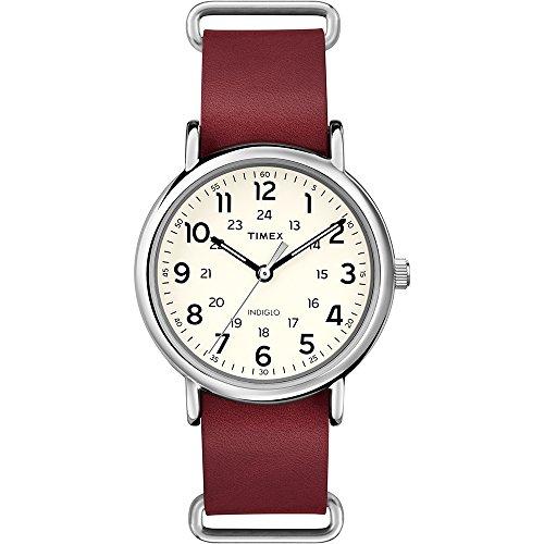 タイメックス 腕時計 メンズ T2P493 Timex Originals T2P493 Weekender Red Leather Strap Watchタイメックス 腕時計 メンズ T2P493