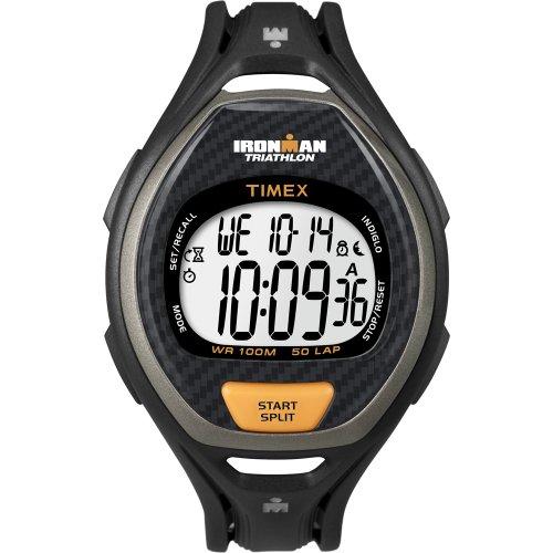 タイメックス 腕時計 レディース Timex Ironman 50 Lap Men's Digital Watch Black/Orangeタイメックス 腕時計 レディース