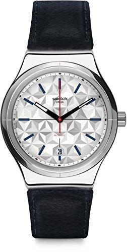 スウォッチ 腕時計 メンズ YIS408 Swatch Men's Digital Automatic Watch with Leather Strap YIS408スウォッチ 腕時計 メンズ YIS408