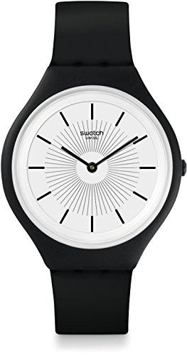 スウォッチ 腕時計 レディース SVUB100 Swatch Skin Skinnoir White Dial Silicone Strap Unisex Watch SVUB100スウォッチ 腕時計 レディース SVUB100