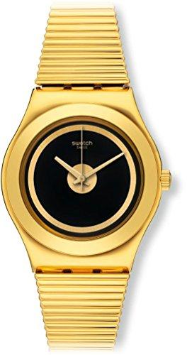 スウォッチ 腕時計 レディース 夏の腕時計特集 YLG130送料無料 Swatch Women's Medium YLG130 Gold Leather Swiss Quartz Watchスウォッチ 腕時計 レディース 夏の腕時計特集 YLG130ONvnwm80
