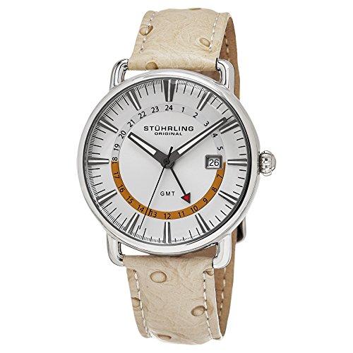 ストゥーリングオリジナル 腕時計 メンズ 791.01 Stuhrling Original Men's 791.01 Symphony Swiss Quartz Date GMT Beige Leather Strap Watchストゥーリングオリジナル 腕時計 メンズ 791.01