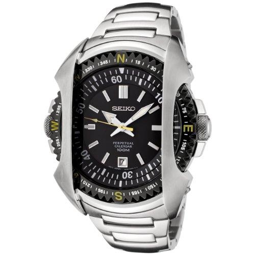 セイコー 腕時計 メンズ SNQ089 Seiko Men's SNQ089 Perpetual Calendar Black Dial Stainless Steel Watchセイコー 腕時計 メンズ SNQ089