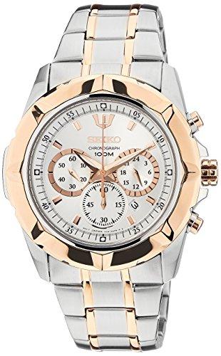 セイコー 腕時計 メンズ SRW026P1 【送料無料】Seiko Chronograph White Dial Two-tone Mens Watch SRW026P1セイコー 腕時計 メンズ SRW026P1
