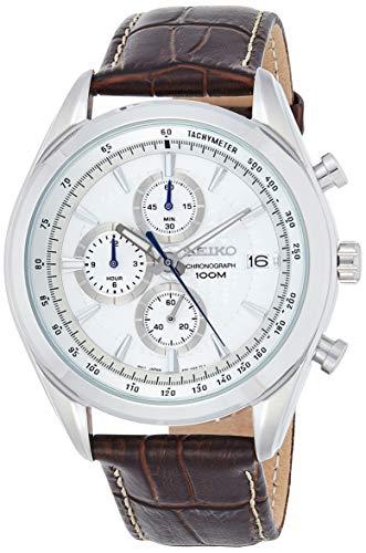 セイコー 腕時計 メンズ SSB181P1 【送料無料】Seiko Chronograph SSB181 Silver Tone Dial Brown Leather Band Men's Watchセイコー 腕時計 メンズ SSB181P1