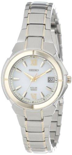 腕時計 セイコー レディース SUT022 【送料無料】Seiko Women's SUT022 Solar Two Tone Stainless Steel Analog with Silver Dial Watch腕時計 セイコー レディース SUT022