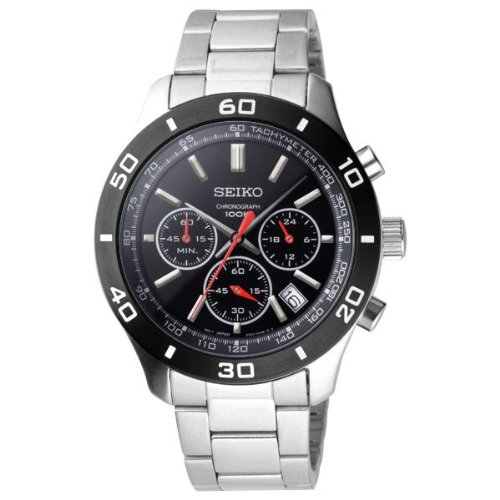 セイコー 腕時計 メンズ SSB053P1 【送料無料】Seiko Chronograph Black Dial Mens Watch SSB053セイコー 腕時計 メンズ SSB053P1
