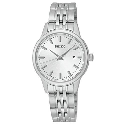 腕時計 セイコー レディース SUR837 【送料無料】Seiko Quartz White Dial Silver Plated Stainless Steel Women's Watch SUR837腕時計 セイコー レディース SUR837:angelica