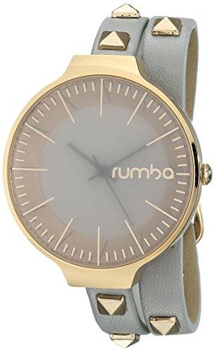 ルンバタイム 腕時計 レディース 26641 RumbaTime Orchard Double Wrap Pewter Analog Display Japanese Quartz Watchルンバタイム 腕時計 レディース 26641