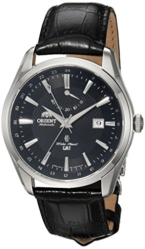 オリエント 腕時計 メンズ FDJ05002B0 【送料無料】Orient Men's GMT Stainless Steel Swiss Automatic Watch with Leather Strap, Black, 22 (Model: FDJ05002B0)オリエント 腕時計 メンズ FDJ05002B0
