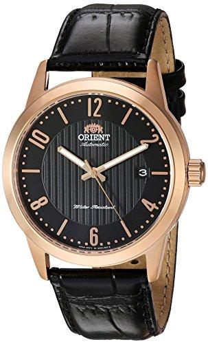 オリエント 腕時計 メンズ FAC05005B0 Orient Men's Howard Stainless Steel Japanese-Automatic Watch with Leather Calfskin Strap, Black, 22 (Model: FAC05005B0)オリエント 腕時計 メンズ FAC05005B0