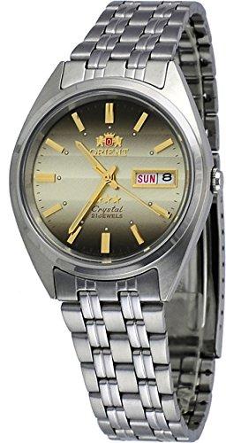 オリエント 腕時計 メンズ 【送料無料】Orient FAB0000DU Men's 3 Star Stainless Steel Brown Dial Day Date Automatic Watchオリエント 腕時計 メンズ