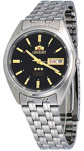 オリエント 腕時計 メンズ 【送料無料】Orient FAB0000DB Men's 3 Star Stainless Steel Black Dial Self Wind Automatic Watchオリエント 腕時計 メンズ